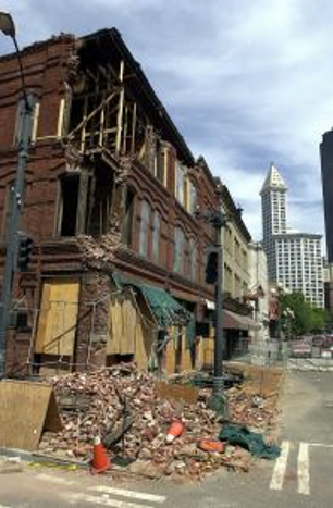 earthquake damage to the cadillac hotel