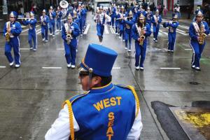 band members in uniform